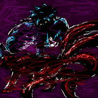 Antisora VS Fourtail Naruto by Kitsune-Prophet