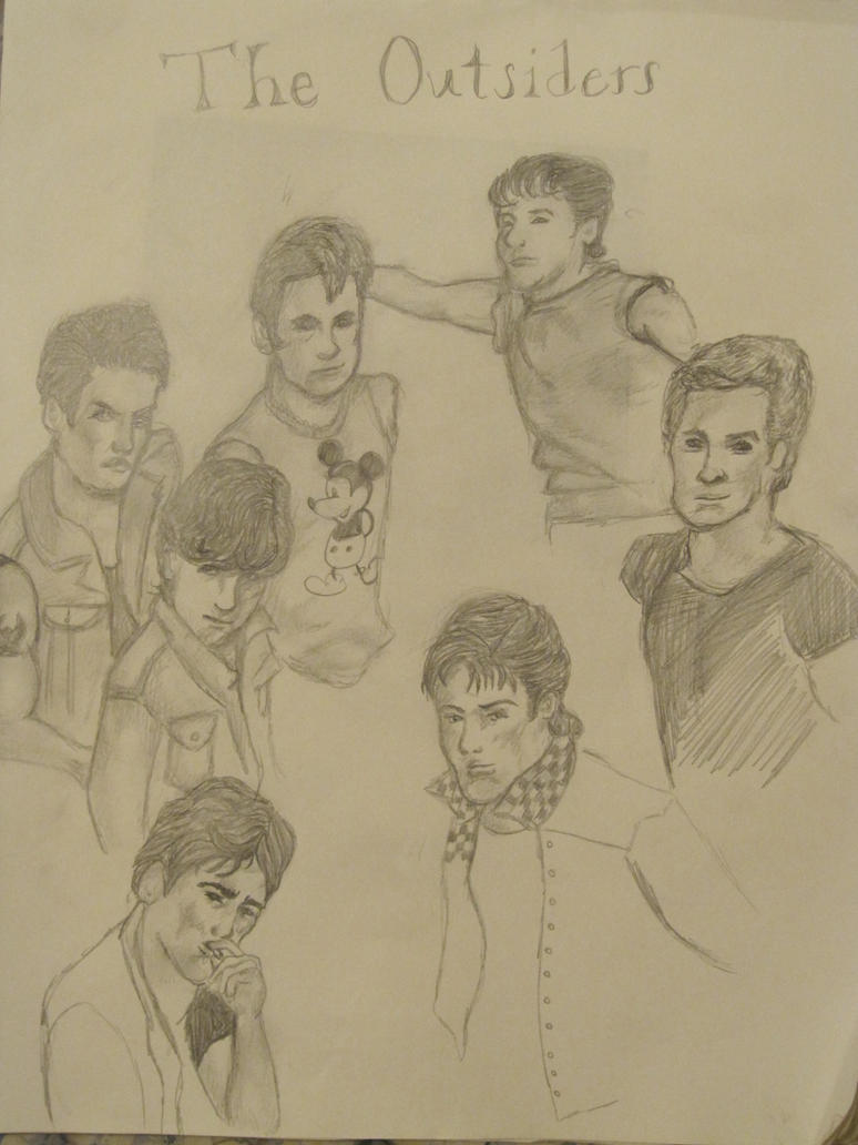 The Outsiders Drawing Book Cover ~ The outsiders cover by ithinkmynameissarah on deviantart