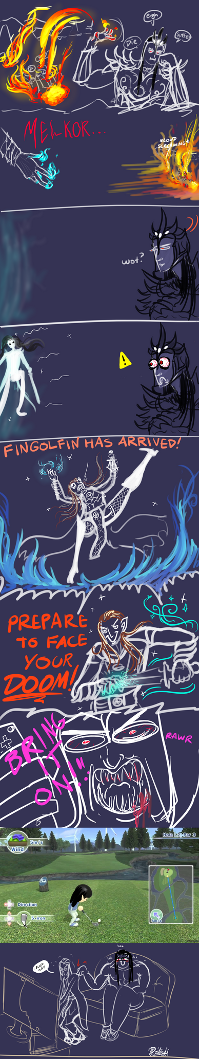 Fingolfin gon golf by Doitsuki