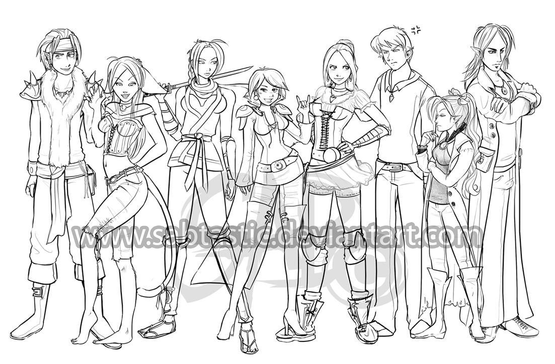 Original Character Lineup By Sabtastic