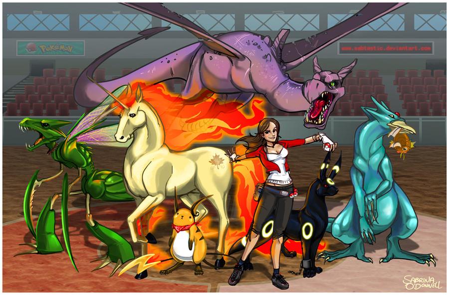 Team Tastic - Pokemon Portrait by Sabtastic