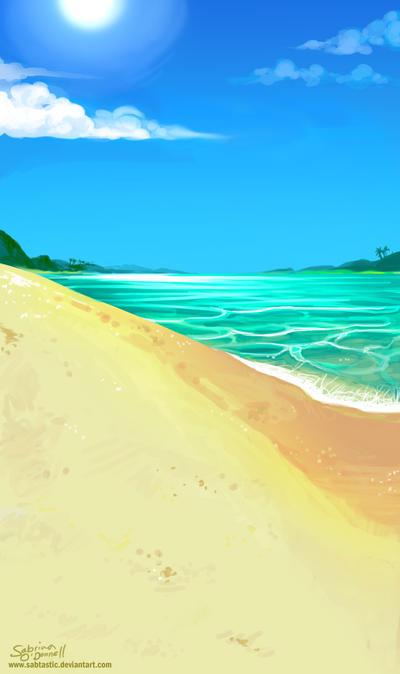 Tropical Beach by Sabtastic