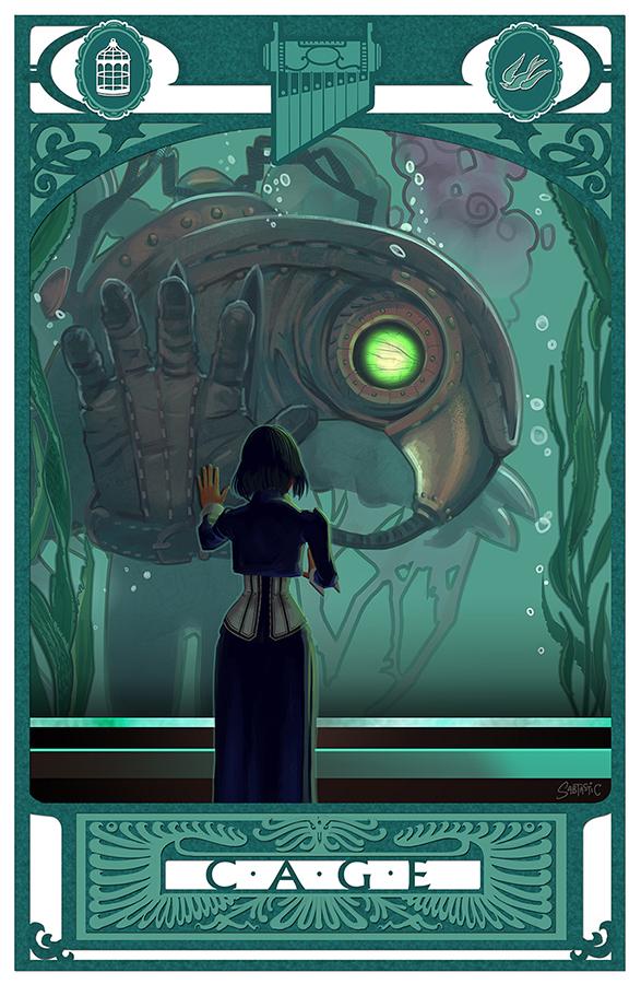 C-A-G-E: Bioshock Infinite by Sabtastic