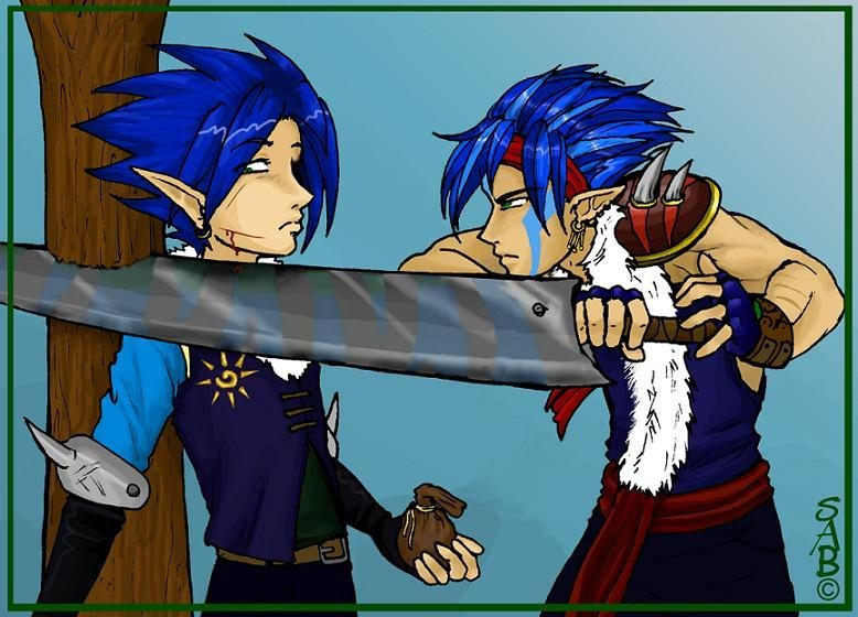 Blue vs Makai by Sabtastic