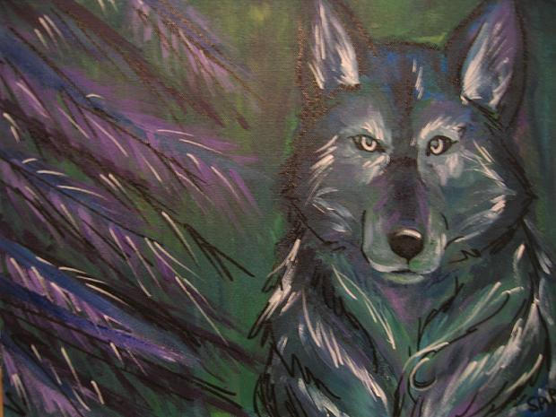 Pretty Purple Wolf by Sabtastic