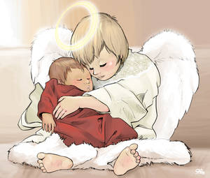 Baby's Guardian Angel by Sabtastic