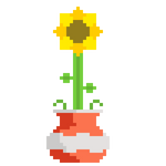 Pixel Pot Plant (Sunflower inside)