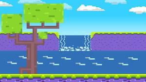 Scene Idea - SwordQuest - Waterfall Scene