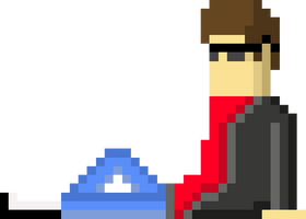 Pixel self - Trying to draw a new avatar image by CaptainToog