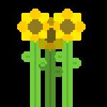 Pixel Sunflowers