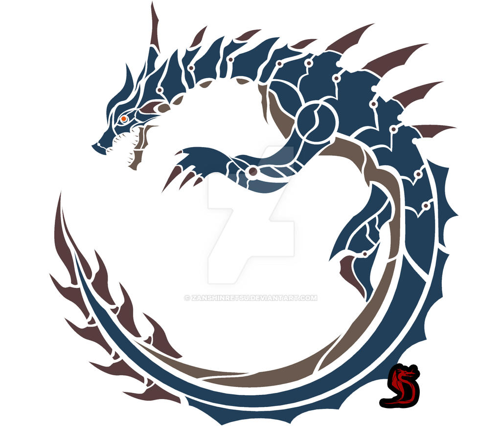 lagiacrus circular emblem by zanshinretsu on deviantart. Black Bedroom Furniture Sets. Home Design Ideas