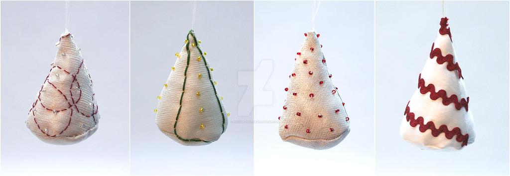 Little Tree Ornaments by Ninina-nini