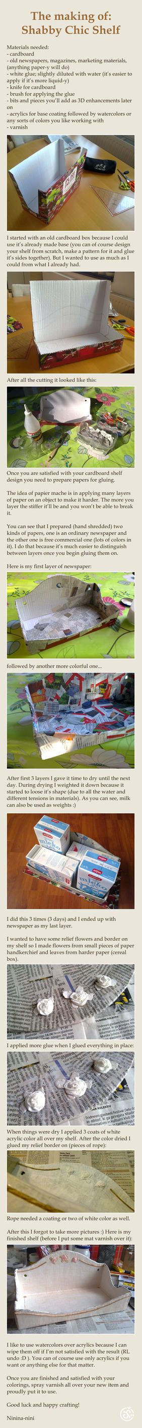 Making of Shabby Chic Shelf by Ninina-nini