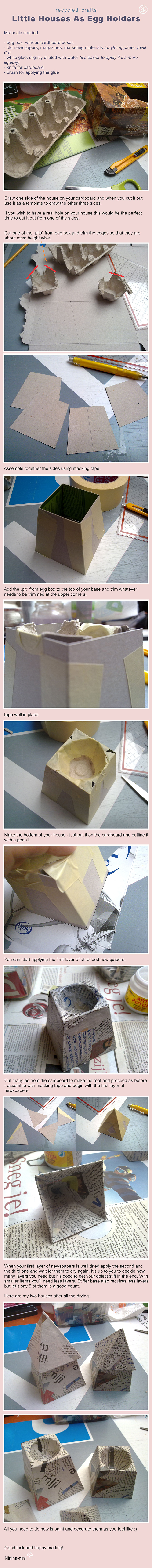 Making of Egg Houses Which Are Egg Holders by Ninina-nini
