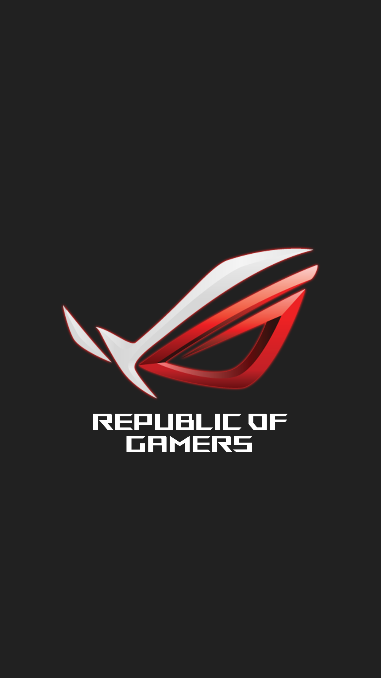 ROG red iPhone wallpaper v2 by Alphaziel