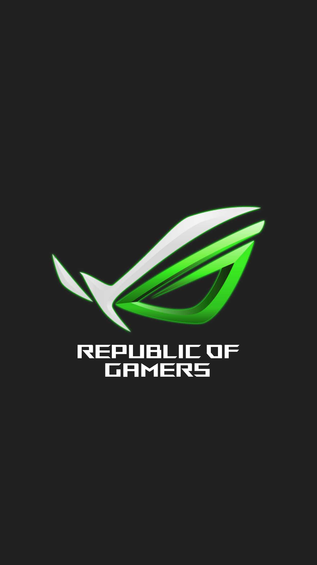 ROG green iPhone wallpaper v2 by Alphaziel