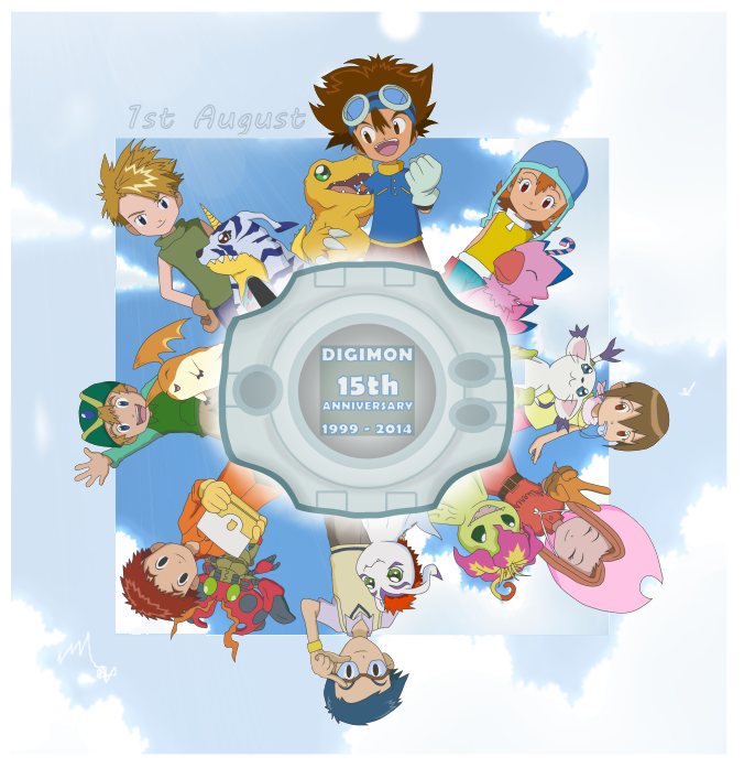 Digimon 15th Anniversary by CherrygirlUK19