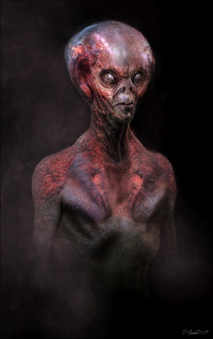 Alien Portrait by JSMarantz
