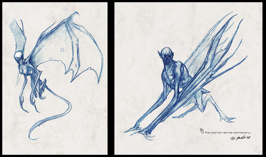 'Harpies' sketches by JSMarantz