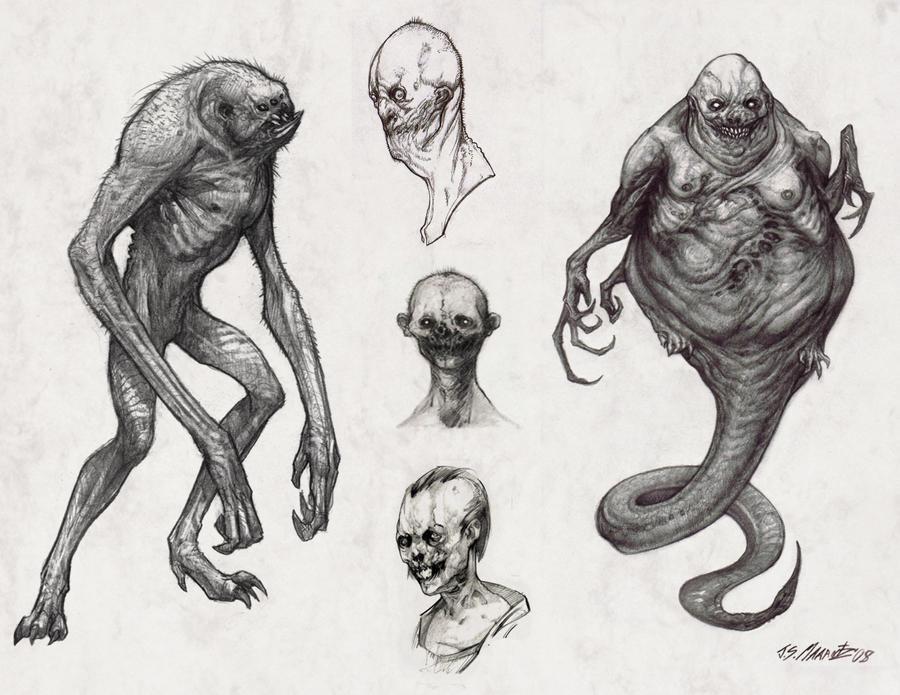 Line Drawing Monster : Monster sketches by jsmarantz on deviantart