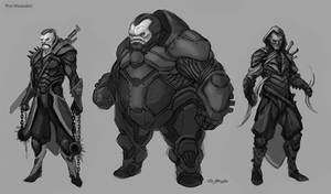 Thor2 Marauders Sketches by JSMarantz