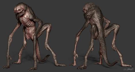 3D Creature Design: The Alien Rock Grubber 3D by JSMarantz