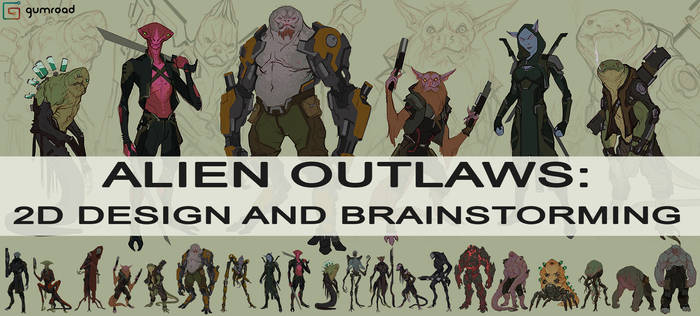 ALIEN OUTLAWS: DESIGN AND BRAINSTORMING on GUMROAD