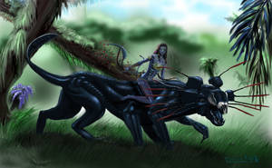 Neytiri on Thanator final by tolhaller