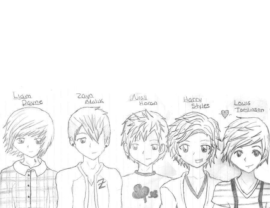 chibi one direction coloring pages - photo#17