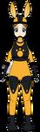 Gertrude with jackrabbit power! by AuraTerrorbird