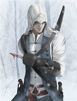 Connor sous la neige by its-pema-time