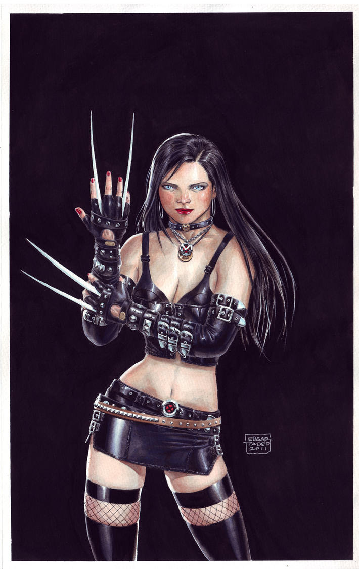 X-23 Gouache Painting by edtadeo