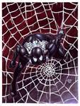 Watercolors-Gouache Spider-Man Black