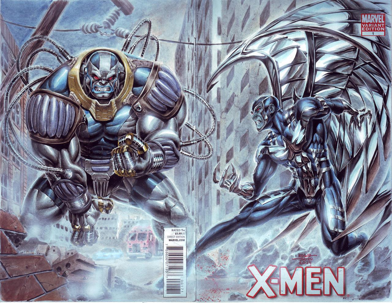 Must see Wallpaper Marvel Archangel - archangel_vs_apocalypse_by_edtadeo-d7a7taz  Graphic_93861.jpg