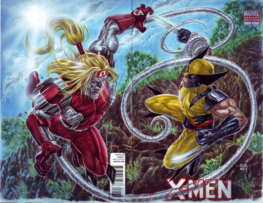Wolverine vs Omega Red by edtadeo