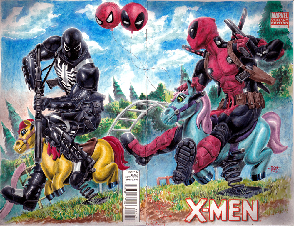 Venom vs Deadpool by edtadeo