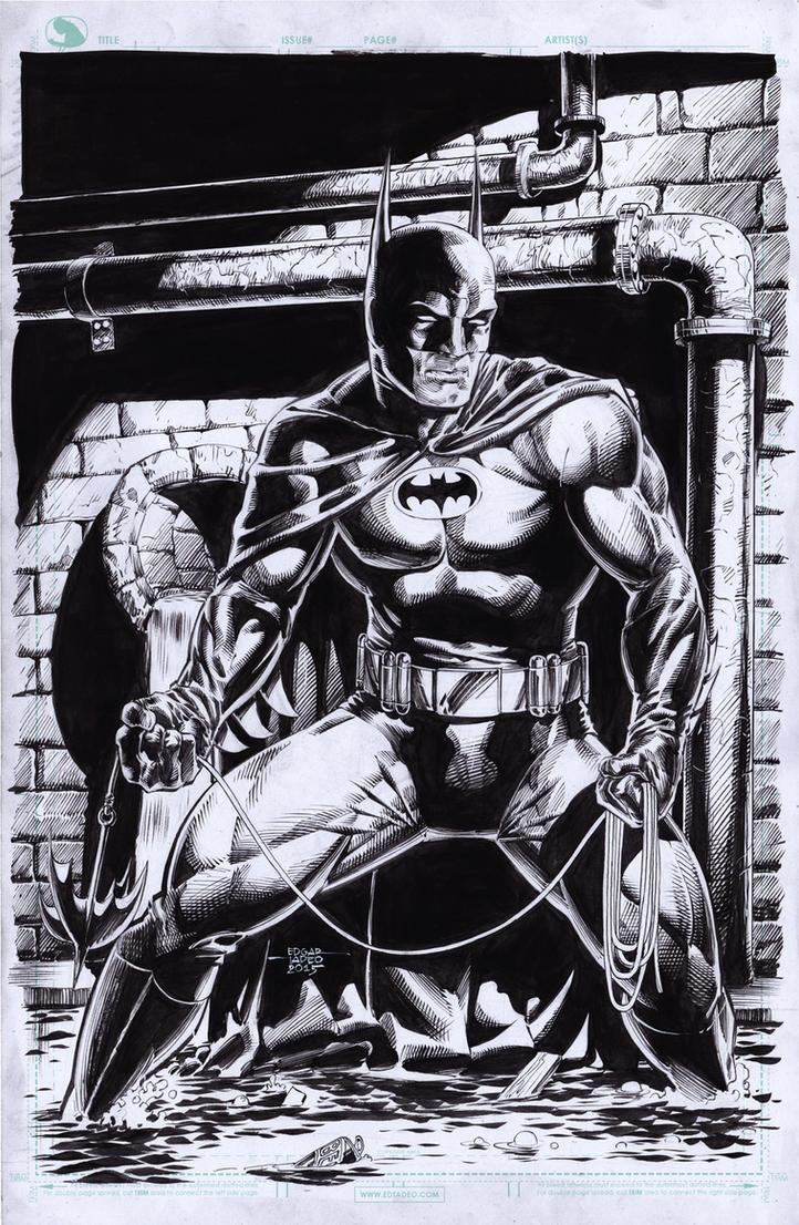 Batman In Sewer by edtadeo