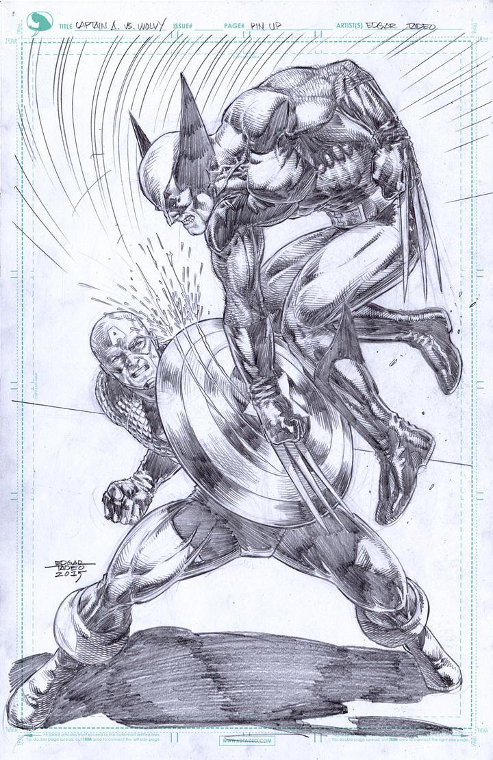 Captain America vs Wolverine by edtadeo