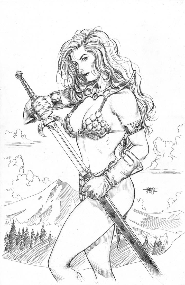 Red Sonja - Pre-commission by edtadeo