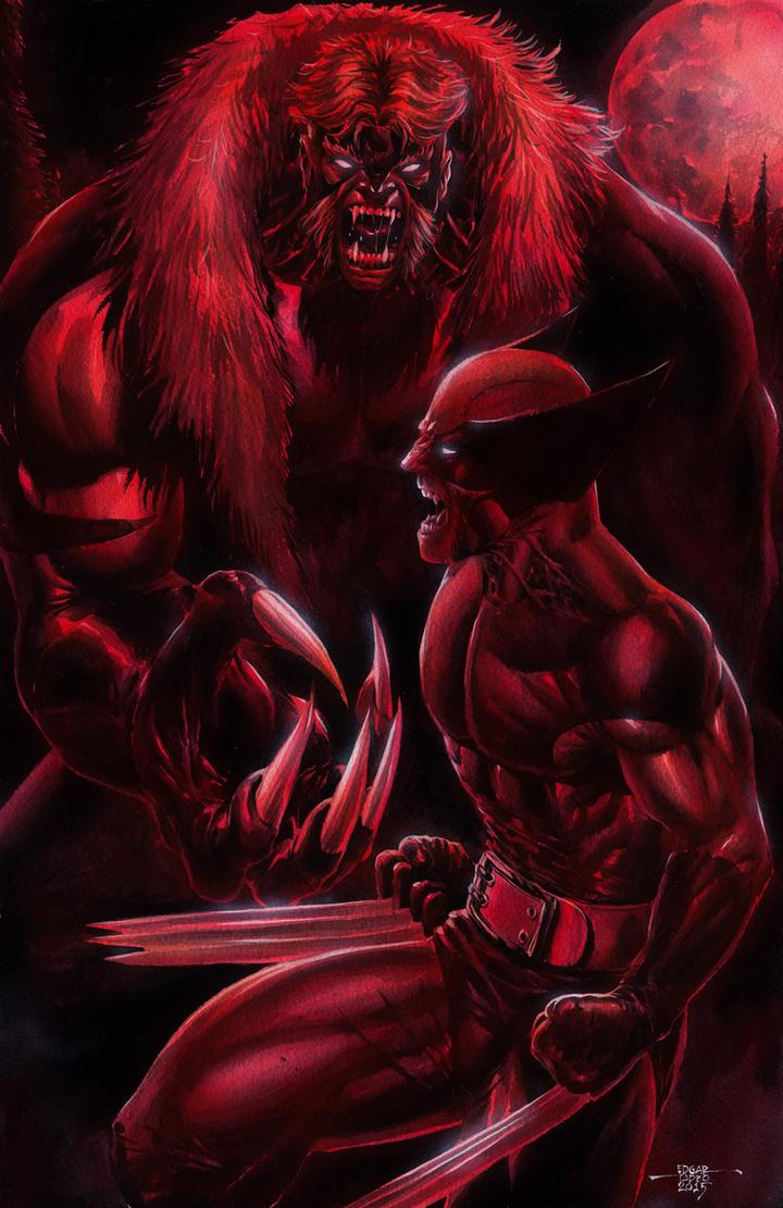 Wolverine vs Sabertooth by edtadeo