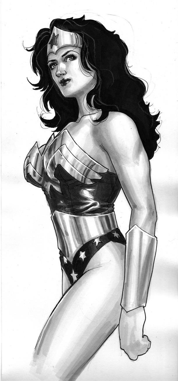 Wonder Woman Copic Marker by edtadeo
