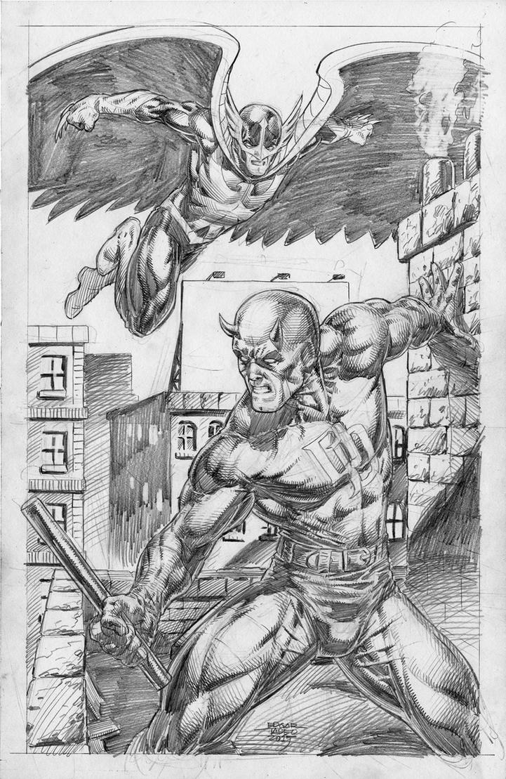 Dare Devil v Nighthawk by edtadeo