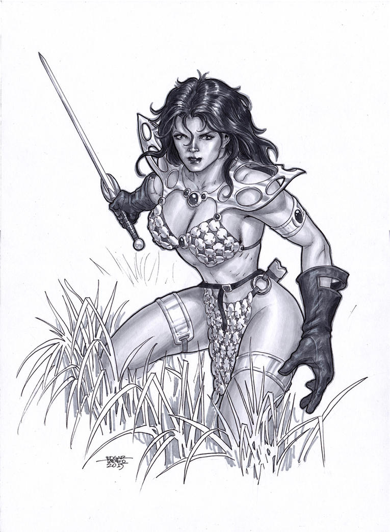 Red Sonja - Copic Markers by edtadeo