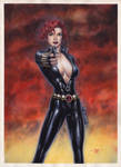 Black Widow - Watercolors