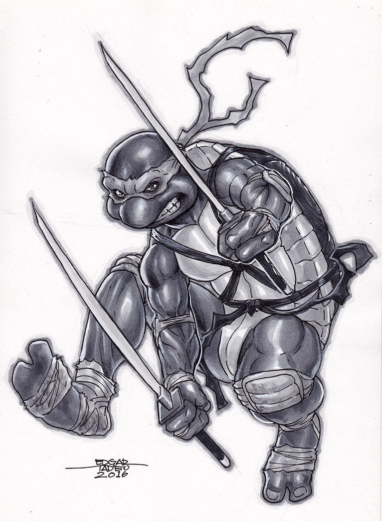 Copic - TMNT by edtadeo