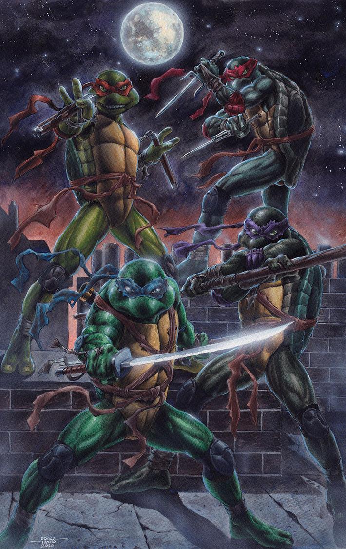 Teenage Mutant Ninja Turtles - Watercolors by edtadeo
