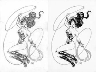 Wonder Woman - Pencil-Ink by edtadeo
