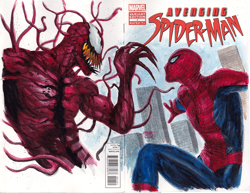 Avengenging Spider-Man - Carnage vs Spider-Man by edtadeo