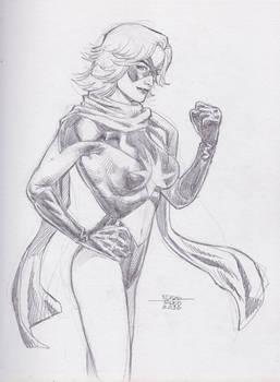 Miss Marvel - Pencil Sketch