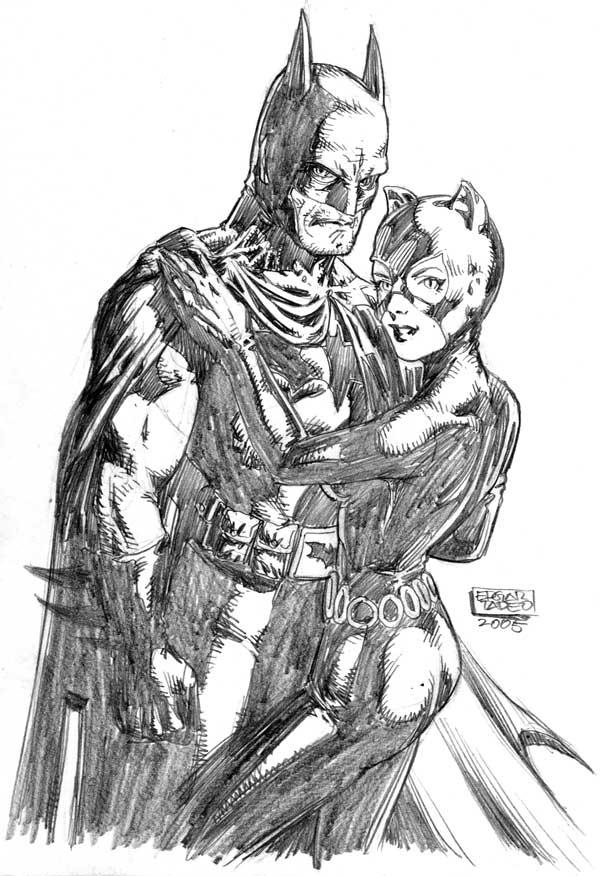 Batman and Catwoman by edtadeo